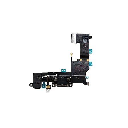 Flex conector de carga iPhone 5S Preto