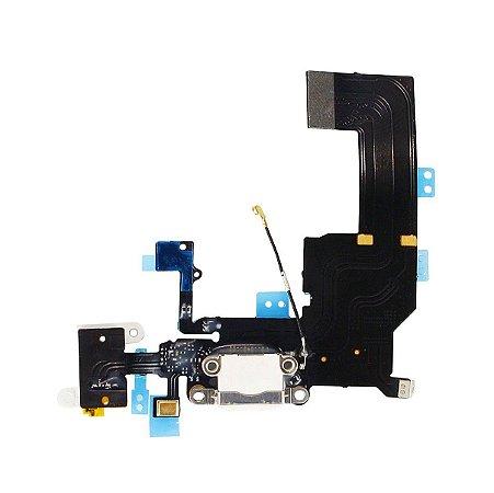 Flex conector de carga iPhone 5C Branco