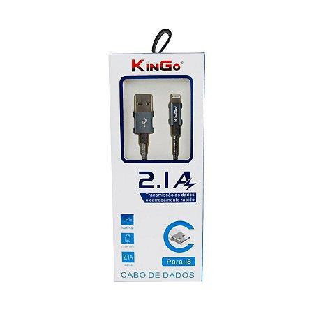 Cabo dados Kingo metalizado iphone ipad lightning grafite