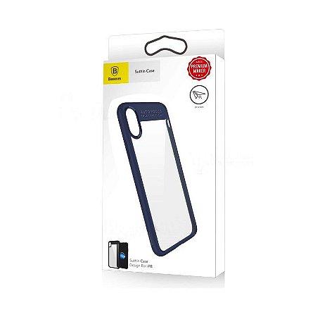 Capa iphone x xs suthin case Baseus azul