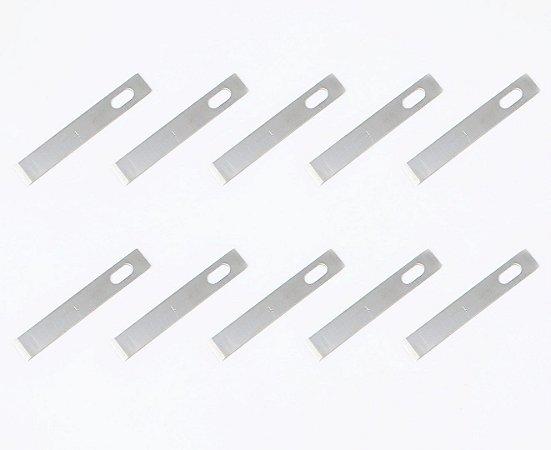 Refil De Lâminas De Alta Precisão Bisturi Modelo 4 Kit 10 Lâminas