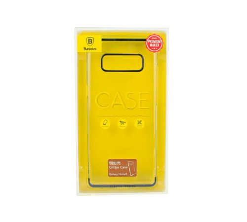 Capa Note 8 glitter case Baseus preta