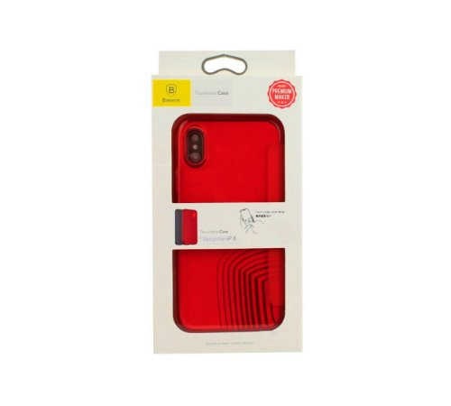 Capa Iphone x xs flip cover Baseus vermelha