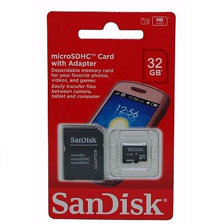 Cartão de memoria micro sd Sandisk 32gb