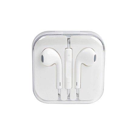 Fone ouvido iphone earphones AA p2 branco