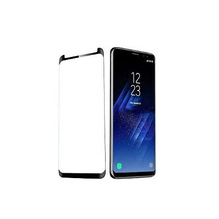 Pelicula Protetora Vidro Anti Choque 5D Samsung S8 Plus Preta