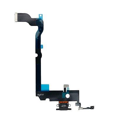 Flex conector de carga iPhone XS Max Preto
