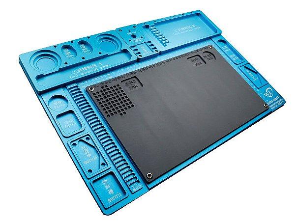 Base Plataforma para Microscopio Aluminio WL Azul