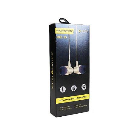 Fone ouvido hmaston Intra Auricular X25 Preto