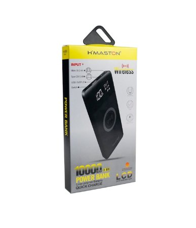 Carregador Power Bank Wireless Hmaston 10000mha H-999 preto