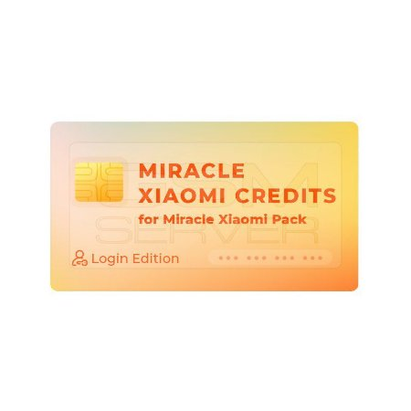 Pacote 25 Creditos Miracle Xiaomi Tool Server (Login Edition)