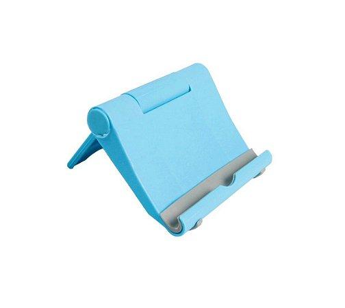 Suporte de Mesa para Celular Tablet s059 Azul