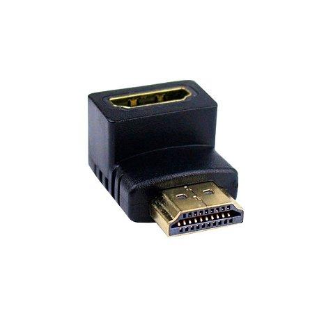Adaptador para cabo HDMI em L 90 graus