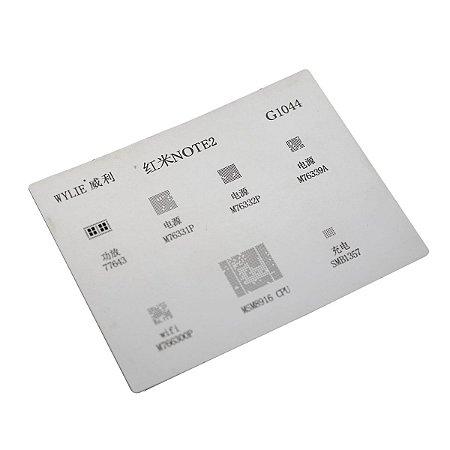 Stencil Reballing BGA Wylie G1044 para Xiaomi Note 2