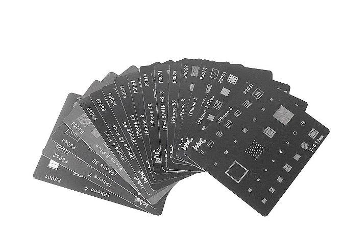 Kit De Stencil Reballing Bga para iphone ipad 16 peças