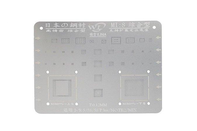 Stencil Para Reballing E Bga Xiaomi Mi8