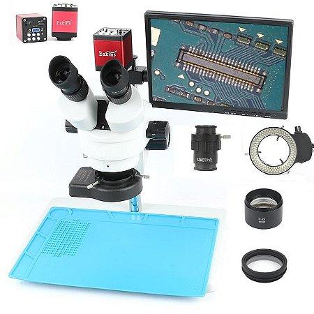Microscopio Trinocular 37045D Articulado Monitor + Acessorios CN5