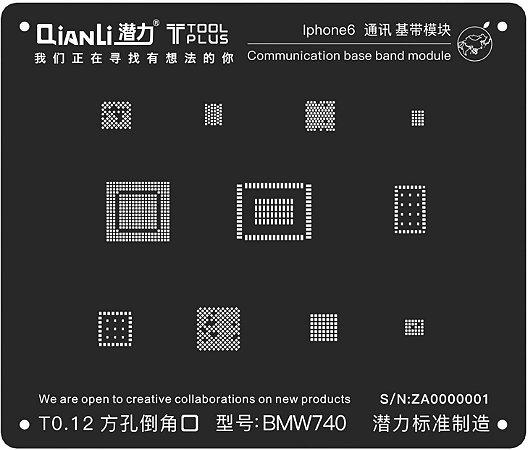 Stencil 3D BMW740 T0.12 iPhone 6 Qianli