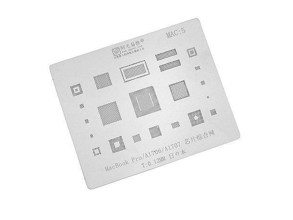 Stencil MacBook Pro A1706 A1707  0.12mm Amaoe MAC5