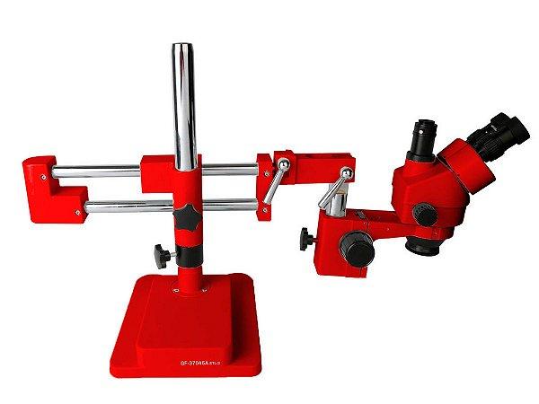 Microscópio Trinocular 37045A Stl2 Vermelho