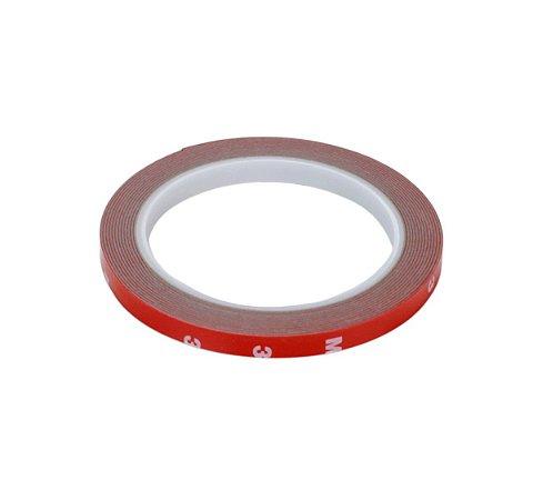Fita Adesiva Dupla Face De Espuma Foam 8mm 3M Vermelha