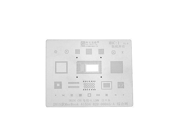 Stencil MacBook 2015 A1534 820 00045 SR23G CPU 0.12mm Amaoe MAC1