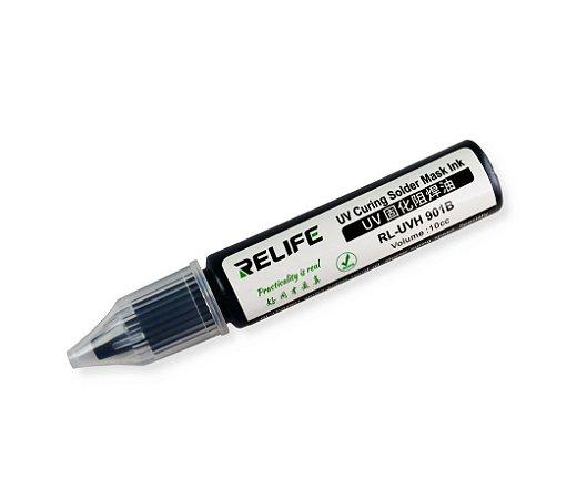 Tinta Uv Pcb Mascara Uv Relife Rl-Uvh901B 10Cc preto