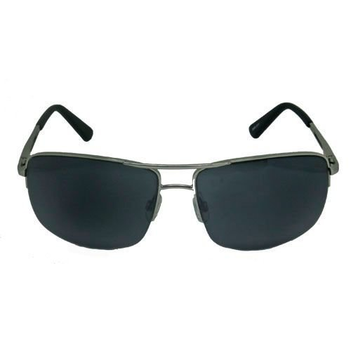 Óculos de Sol Esportivo Prata e Preto Fosco