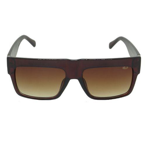 Óculos de Sol Quadrado Marrom Geror
