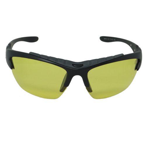 Óculos de Sol Esportivo Preto e Amarelo Geror
