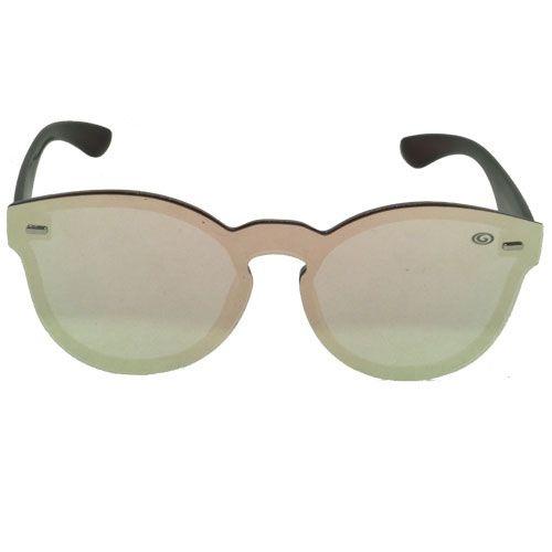 Óculos de Sol Flat Redondo Marrom