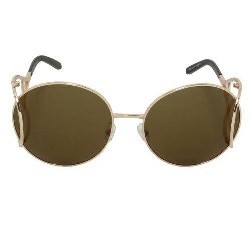 Óculos de Sol Redondo Dourado