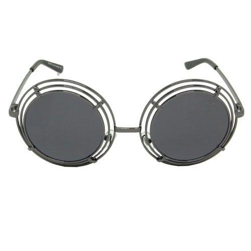 Óculos de Sol Redondo Preto
