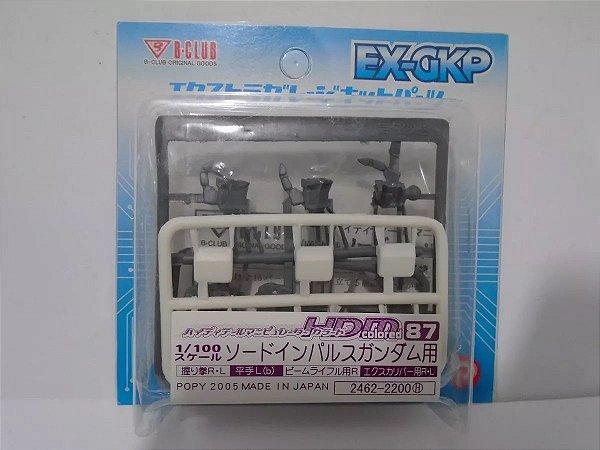 Conjunto de mãos para Gundam Escala 1/100  para customização - EXGKP HDM - Branco