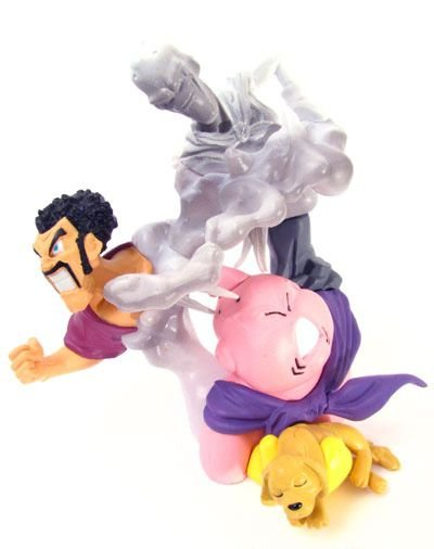 Majin Buu Mister Satan Chachorro e Evil Boo - Dragon Ball Z - Super Imagination Figure - Gashapon - BANDAI