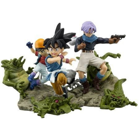 Trunks Goku Pan e Gill - Diorama - Dragon Ball GT - BANDAI