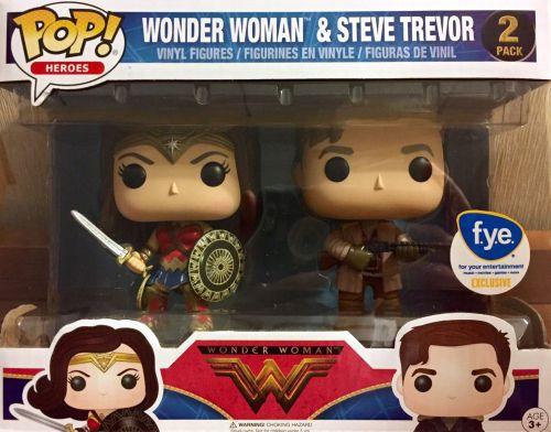 Wonder Woman (Mulher Maravilha) e Steve Trevor - Exclusivo loja F.y.e - Funko Pop!