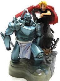 Fullmetal Alchemist Red Edward e Alphonse Diorama com Mangá