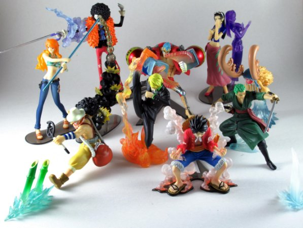 Bandai One Piece Attack Motions Lote com 9