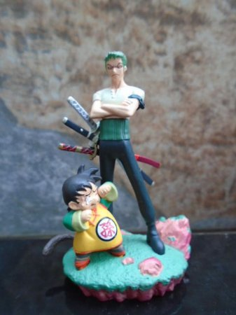 Zoro e Gohan - Dragon Ball X One Piece - Diorama