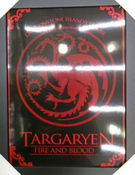 Game of Thrones - Targaryen - Fire and Blood - Quadro