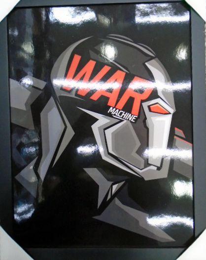 Maquina de Combate - War Machine - Quadro - Marvel