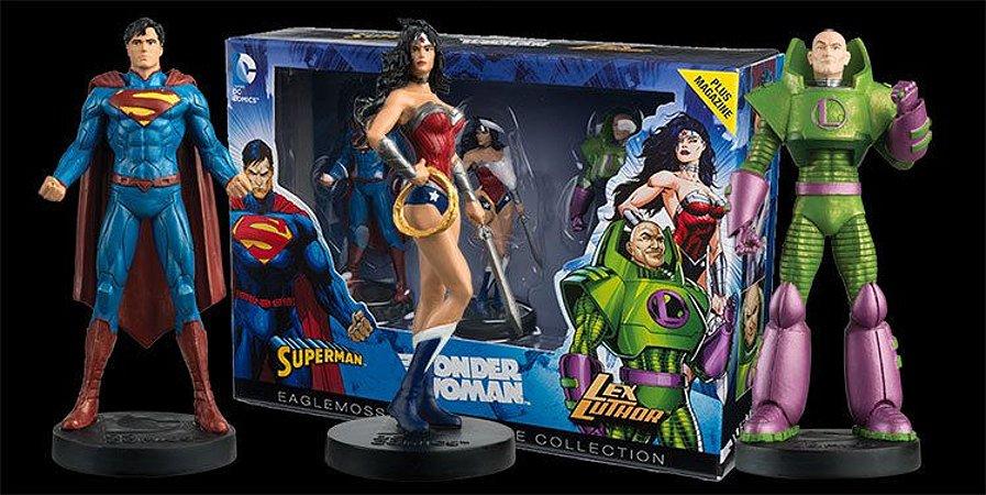 Super-Homem Mulher - Maravilha e Lex Luthor - Eaglemoss Masterpiece Collection