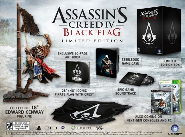 PS3 Assasins Creed 4 Black Flag Limited Edition