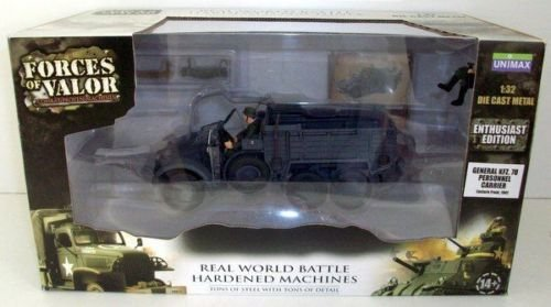 General KFZ.70 Personnel Carrier - Eastern Front, 1941 - Forces of Valor - Escala 1/32 - Die Cast - California  Toys
