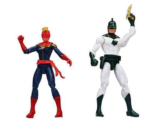 Hasbro Marvel Legends Capitão Mar- vell e Carol (Capitã Marvel)