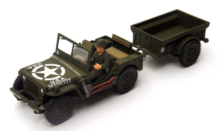 Jeep U.S General Purpose Vehicle (GP) , Normady 1977 - Forces of Valor - Escala 1/32 - California Toys