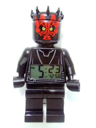 Lego Star Wars Darth Maul Relógio/Despertador