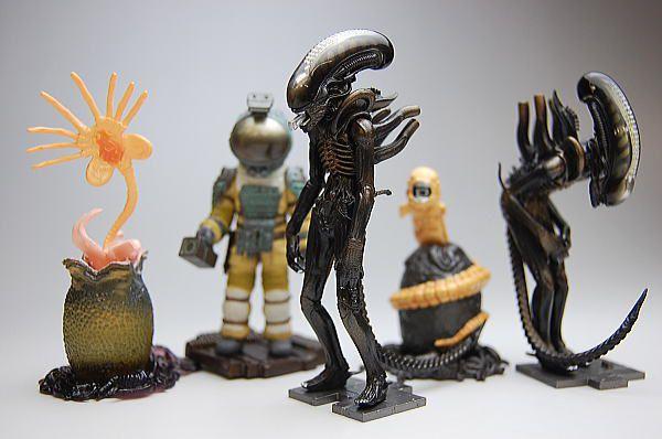 Kaiyodo Alien O Oitavo Passageiro Set com 05 gashapons Raro