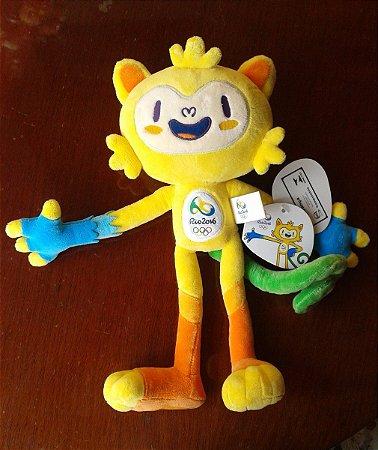 Boneco Vinicius 30 Cm - Mascote Olimpiadas Rio 2016